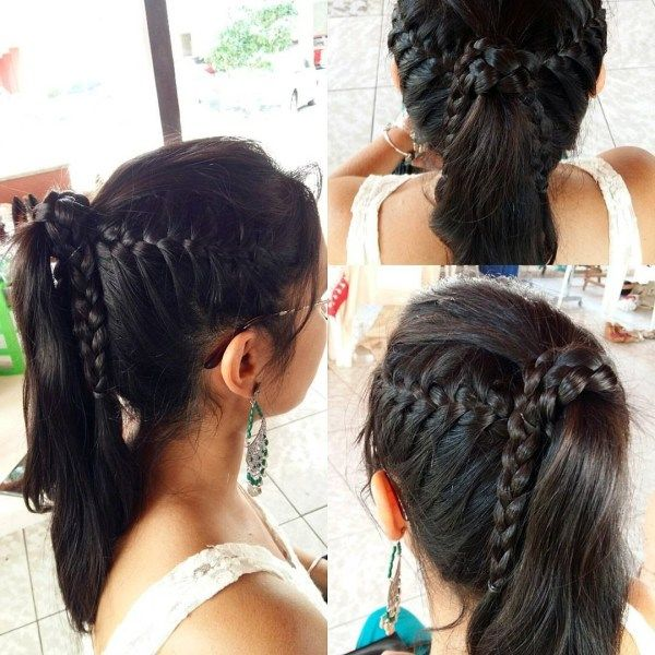 Cute braided updos for long hair 4