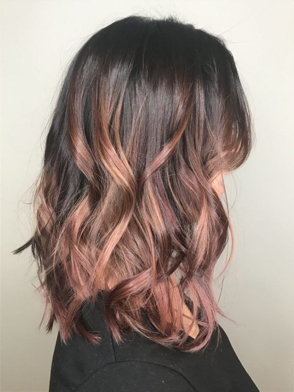 Cute shoulder length lob with color 2