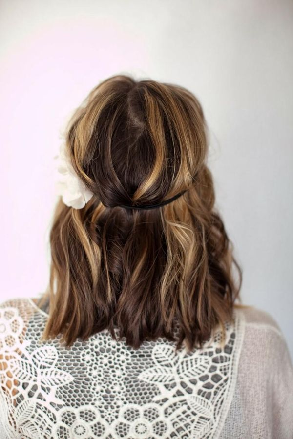 DIY Updo For Medium Length Hair You Can Wear To Prom 4