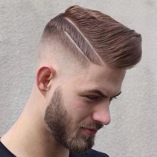 Double hard part haircut 1