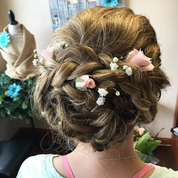 Elegant prom updos with braids 1