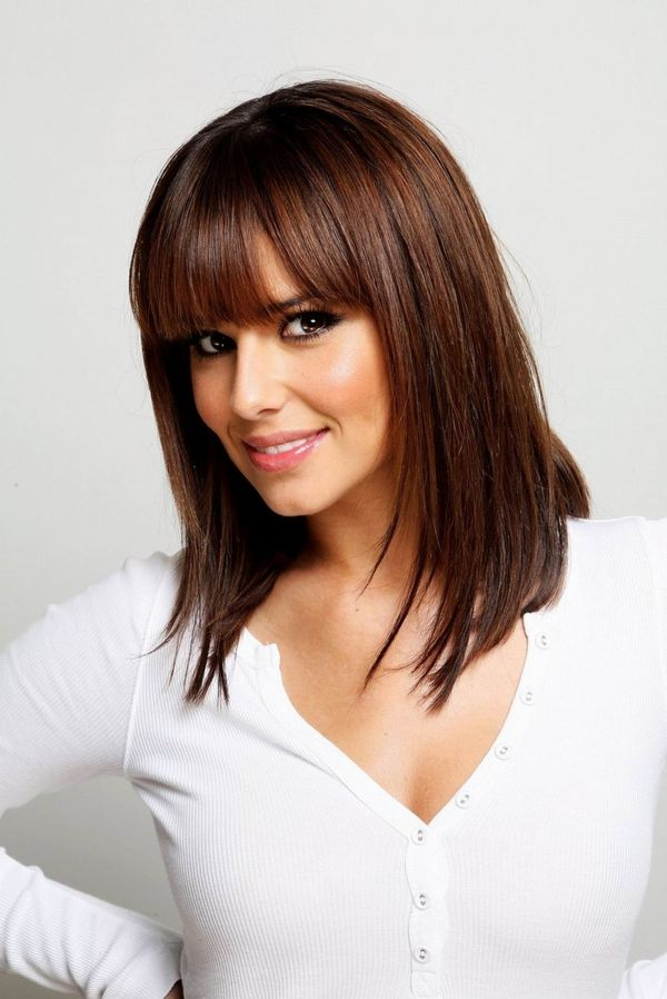 Eyecatching long bobs with bangs 1