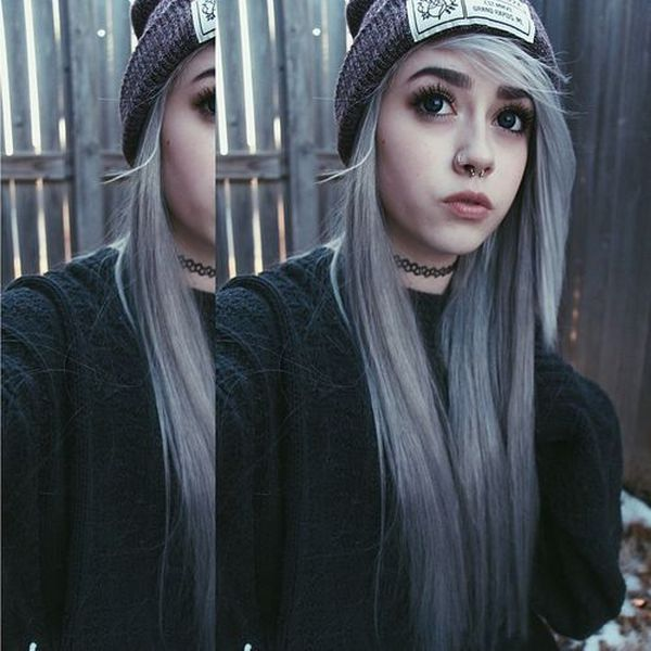 Eyecatching long emo hairstyles for girls 3