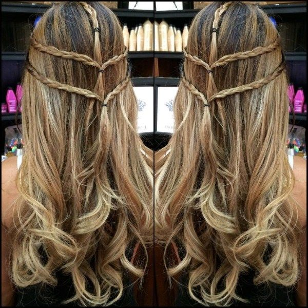 Half up half down long hairstyles with braids 4