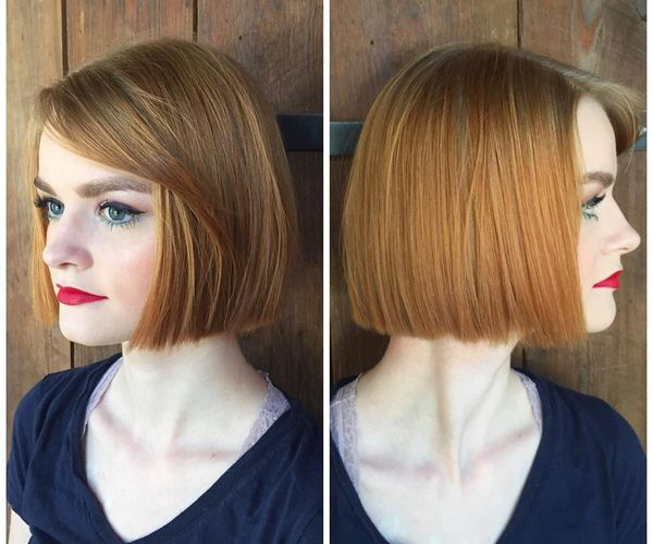 Ideas of short straight hair with bangs 2