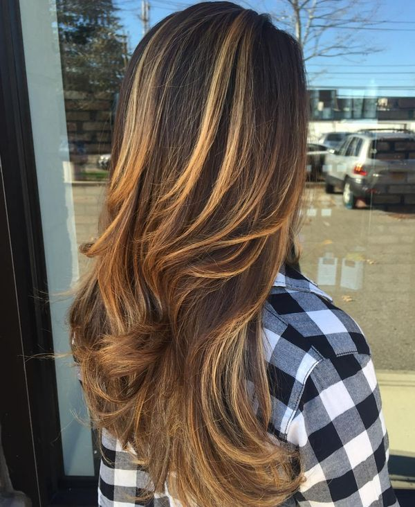 Inspiring pictures of long brown hair with highlights 2
