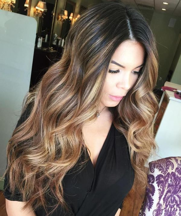 Inspiring pictures of long brown hair with highlights 3
