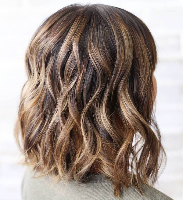Medium brown hair with highlights 3