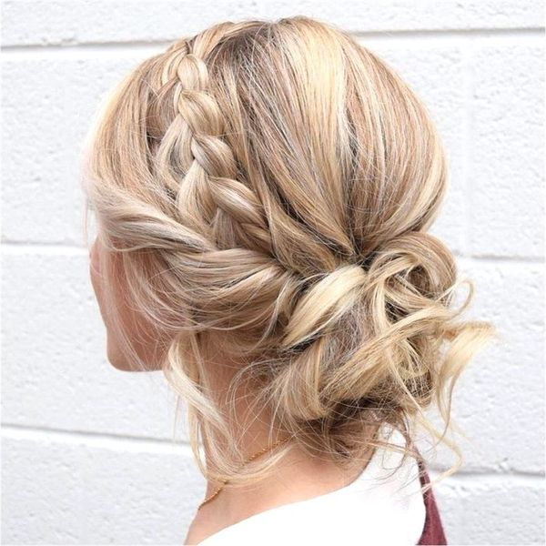 Messy updo hairstyles for prom 5