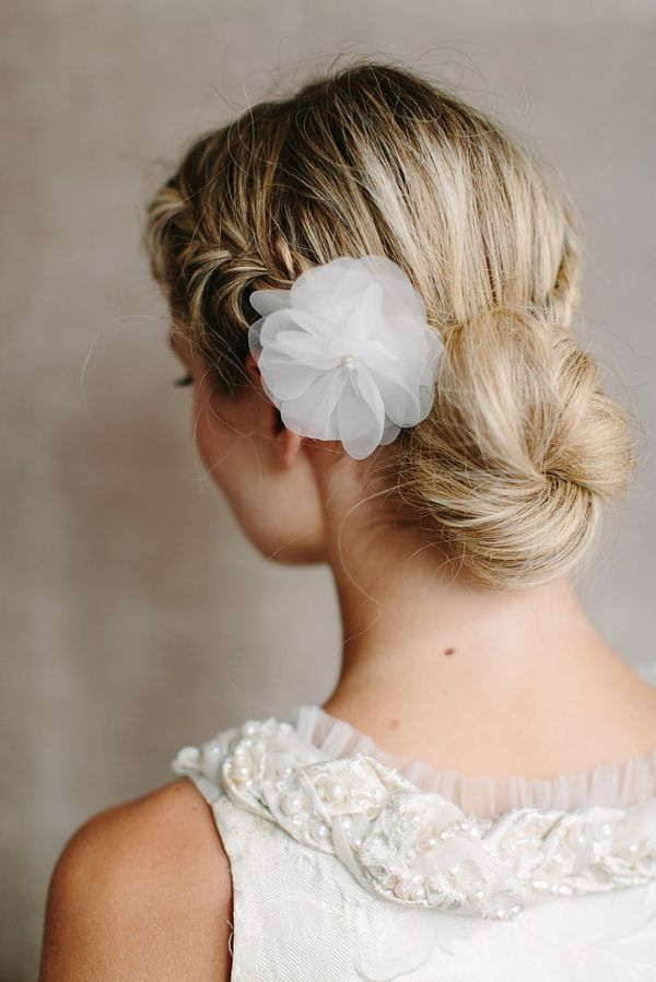 Pretty low bun updos for prom 3