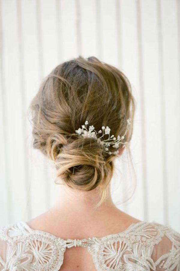 Pretty low bun updos for prom 4