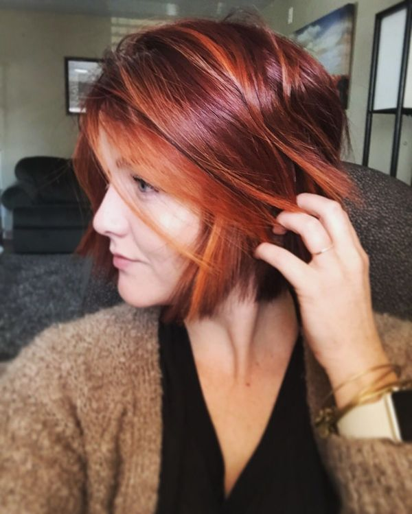 Short Haircuts For Women With Auburn Red Hair Color 3