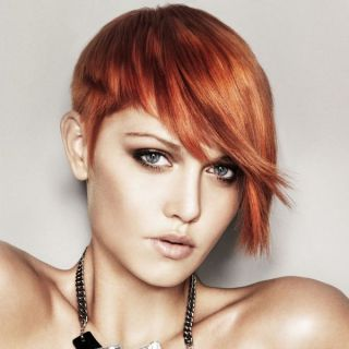 Short Haircuts For Women With Auburn Red Hair Color 4