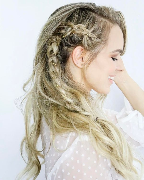 Side braids for long hair 1