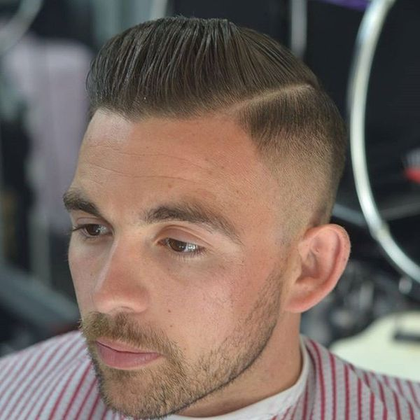 Slick Back Fade Haircut 4