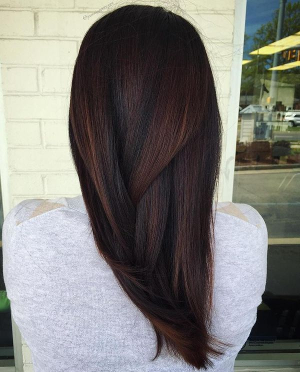 Subtle highlights for dark brown hair 3