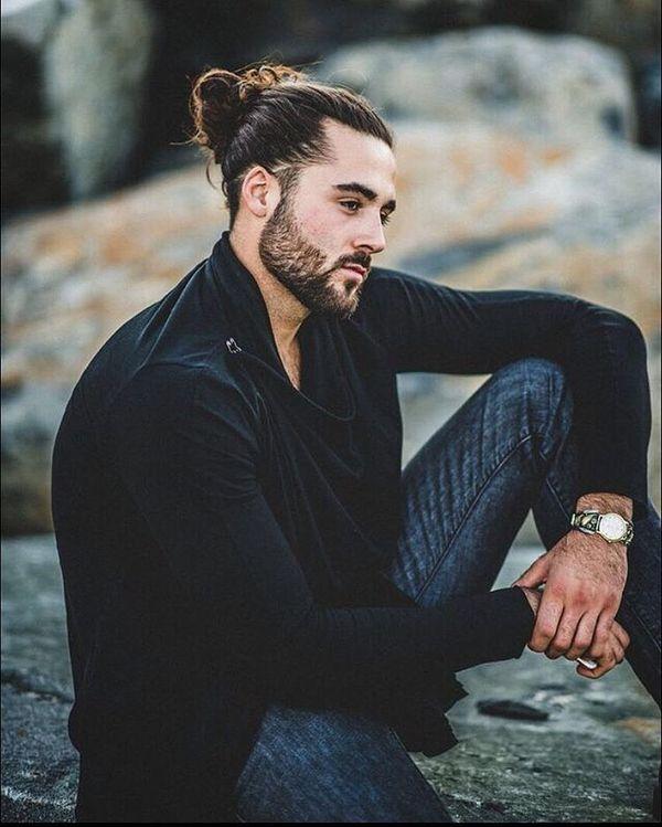 TopKnot Ideas for A Man with Long Hair 1