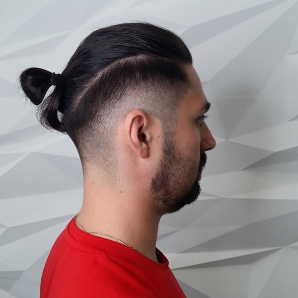 Trendy Top Knot Fade Haircut for Men 4