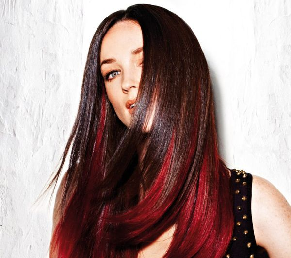 Do You Know That Long Hair Looks Great with Red Underneath 2