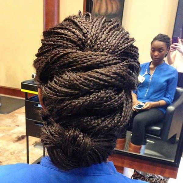 The most beautiful micro braids updos 1