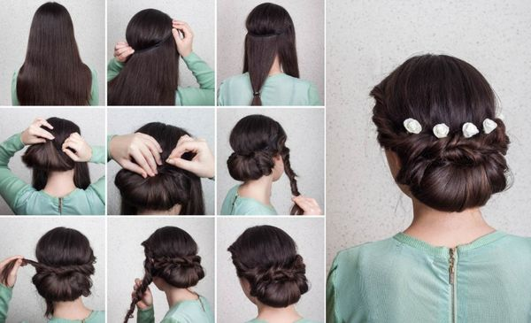 Fancy Updo Hairstyles for Long Hair 3