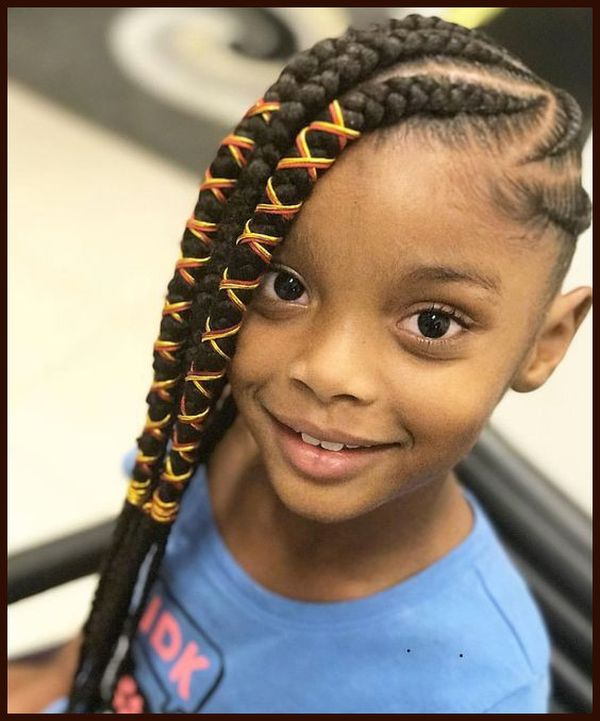 Creative Braided Hairstyles for Kids with Long Hair 2