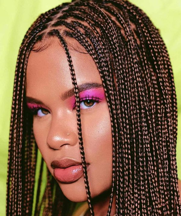Ideas of hairstyles with micro box braids 1