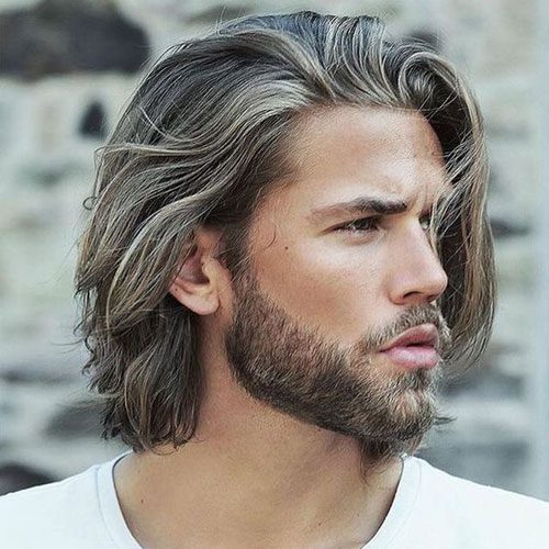 Long Hair with Short Beard