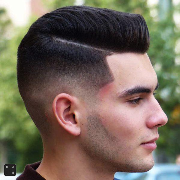 Taper Fade with Part-mens haircut trends 2020-2020 hair trends men-2020 men's hair trends-men's hair trends 2020