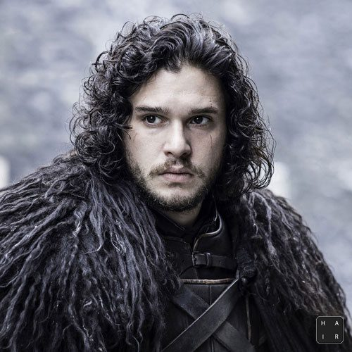 Jon-Snow-Hair-Long-Hair-with-Curls-and-Facial-Hair-Kit Harington Hair-mens hairstyles