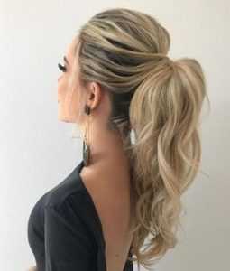 The Most Preferred Long High Pony Hairstyles 2019 for Prom