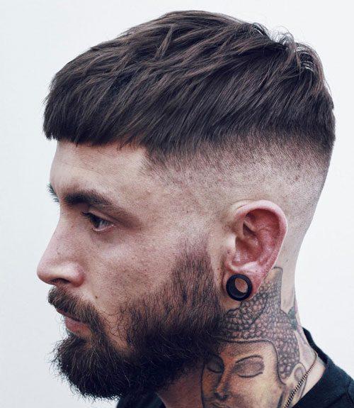 Short French Crop + High Bald Fade + Beard