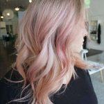 Sophisticated Pink Hair Color on Mid Length Layered Hair for Girls and Women