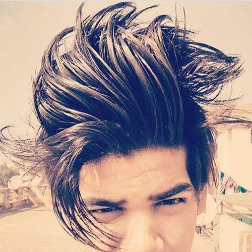 Flowing Medium Length Hair