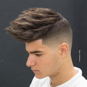 Cool Spiky Men's Haircut For Thick Hair