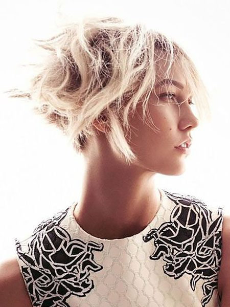short hairstyles for women-Wavy Pixy Cut