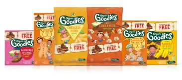 image of Organix range of toddler snacks