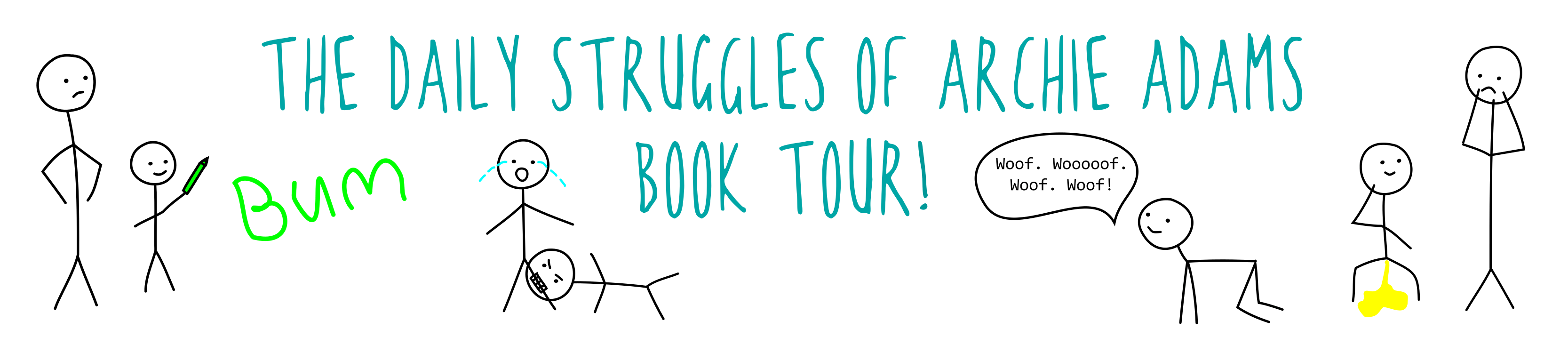 book tour banner for the life of Archie Adams