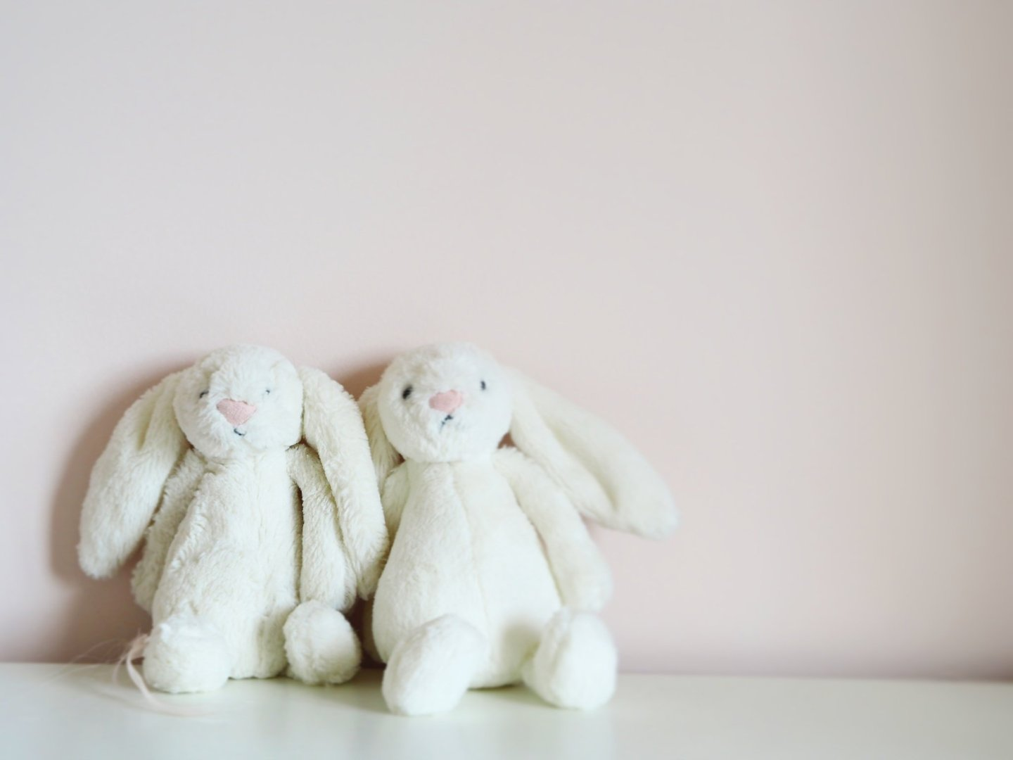 two white bunnies for baby loss awareness month