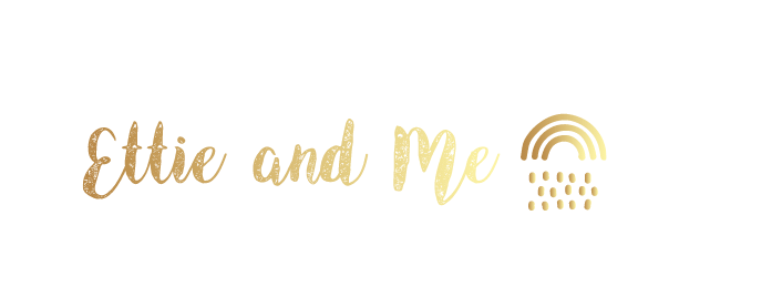 ettie and me logo in gold | Looka logo maker review