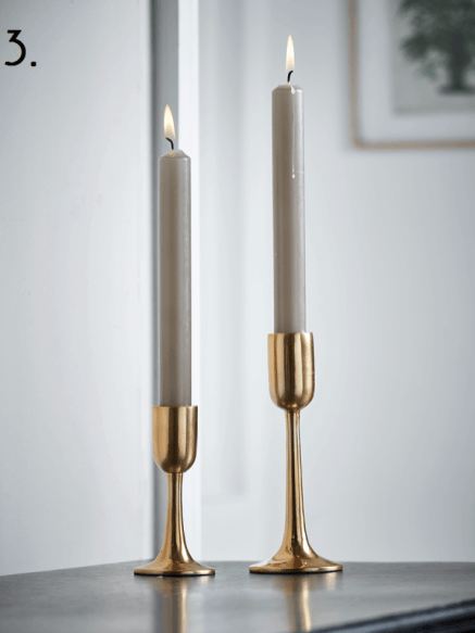 Cox and Cox Brass Candlesticks