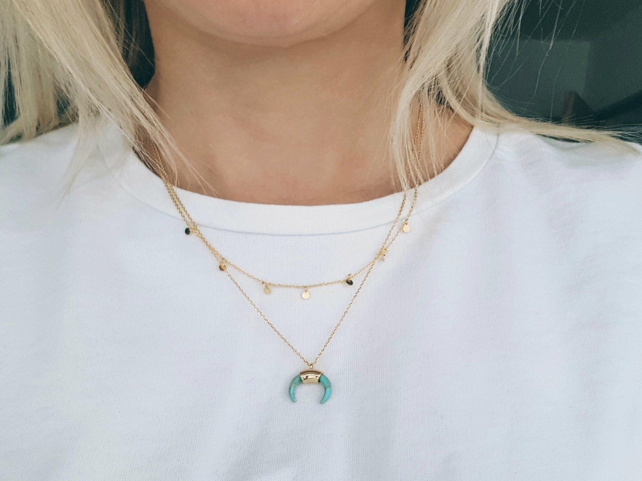 Orellia Jewellery tusk necklace