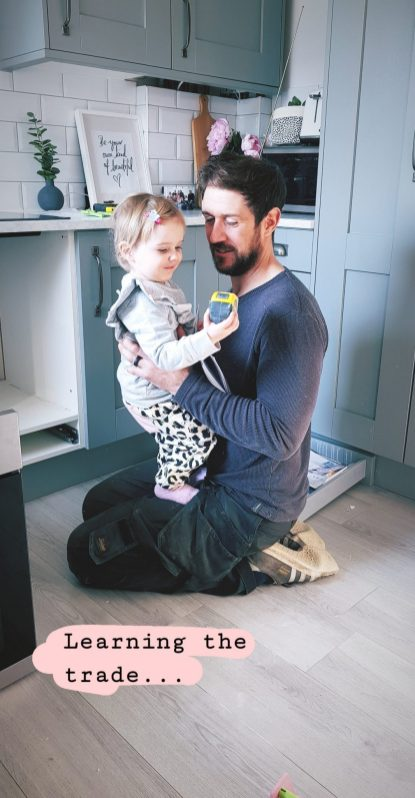 Letters to Ettie 21 months toddler with Daddy