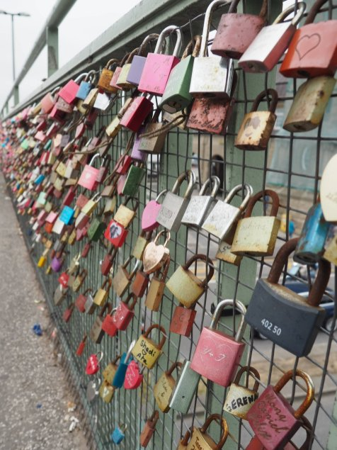 Locks on St Pauli Pies bridge | Hamburg with a toddler