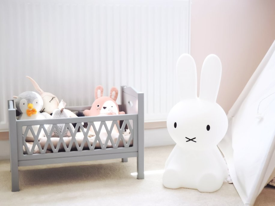 Miffy Lamp | A pink Scandi inspired girls room | The Halcyon Years
