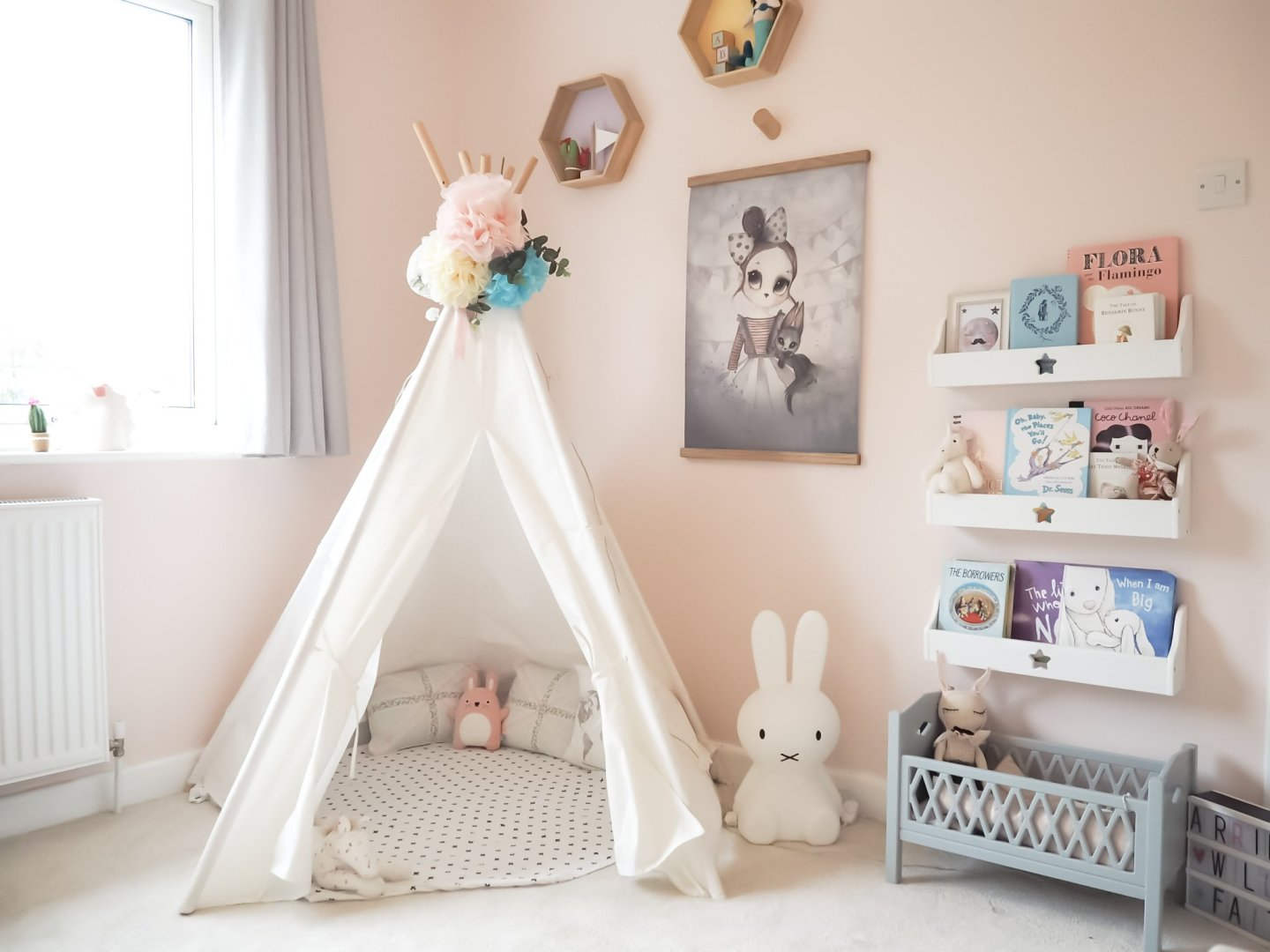 A pink Scandi inspired girls room | The Halcyon Years