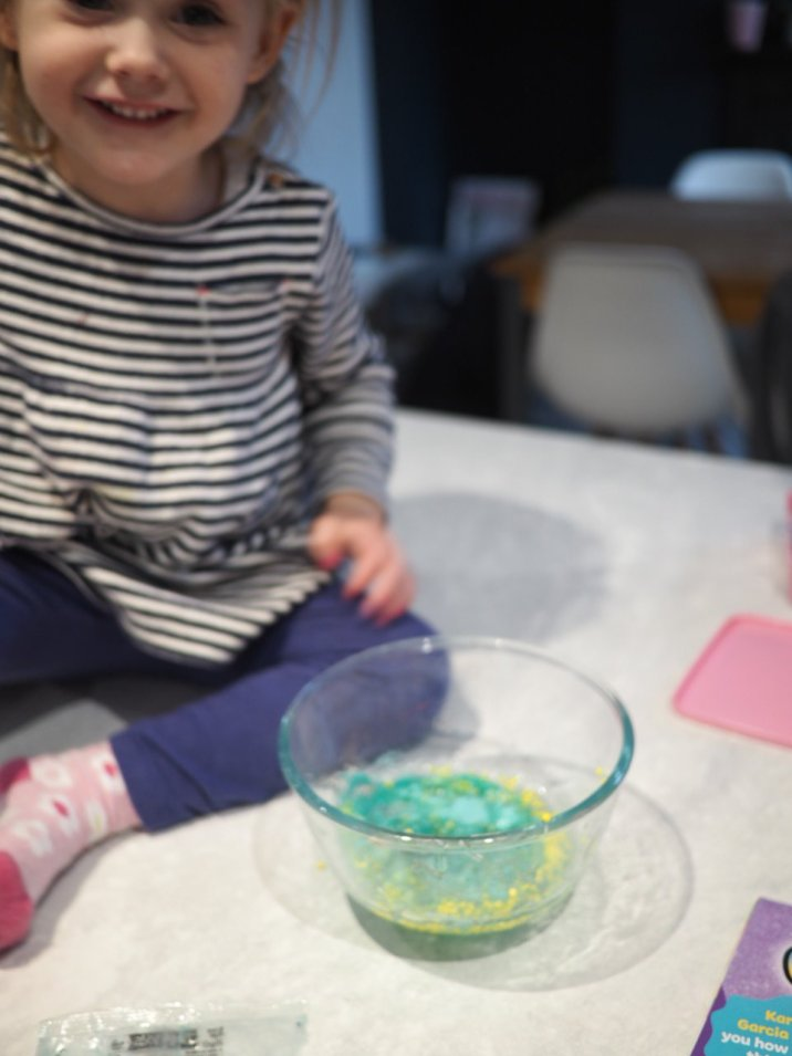 Making Slime with a toddler| Wet weather activities | The Halcyon Years