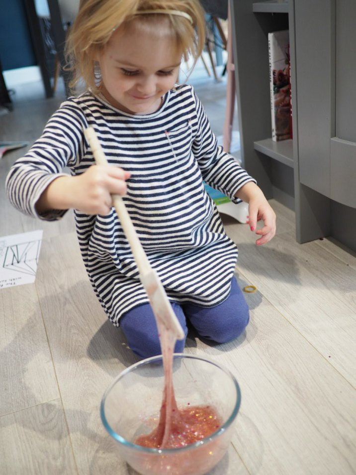 Making Slime with a toddler  Wet weather activities   The Halcyon Years