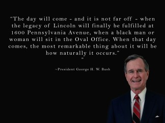 President George H. W. Bush Quote Poster