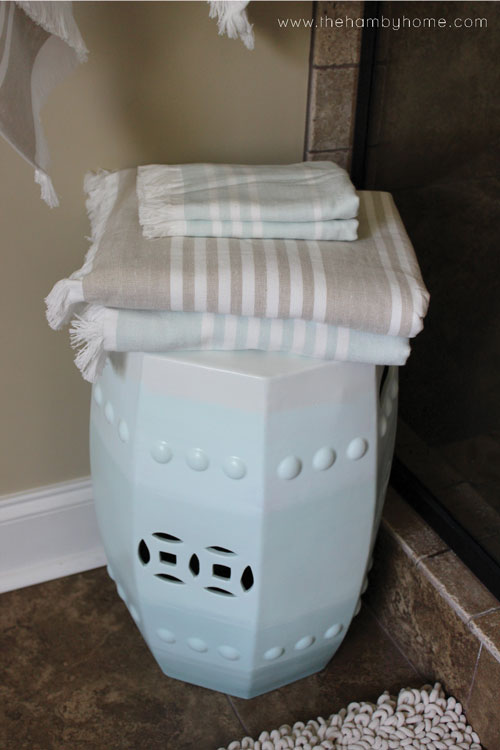 Diy Ombre Ceramic Garden Stool Makeover The Hamby Home